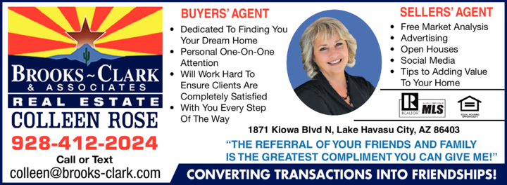 Print Ad of Colleen Rose - Realtor