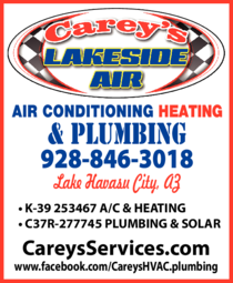 Yellow Pages Ad of Carey's Lakeside Air Conditioning Heating & Plumbing