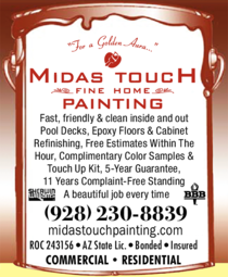 Yellow Pages Ad of Midas Touch Fine Home Painting
