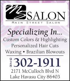 Yellow Pages Ad of Main Street Salon