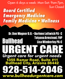 Yellow Pages Ad of Bullhead Urgent Care