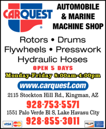 Yellow Pages Ad of Fort Mohave Carquest