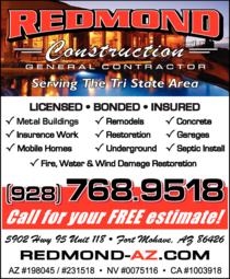 Print Ad of Redmond Construction