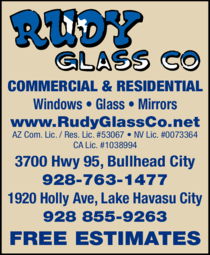 Yellow Pages Ad of Rudy Glass Co