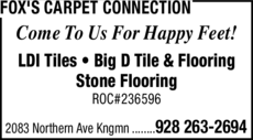 Yellow Pages Ad of Fox's Carpet Connection